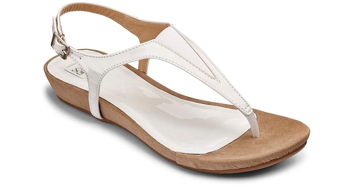 Sole Flexi E White Fit Diva Lyst Sandals tsQxhrdC