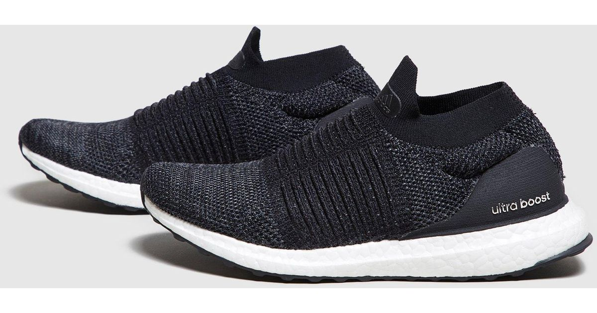 c6c65ff82e7 ... where can i buy lyst adidas ultraboost laceless womens in black b7ba6  365cb