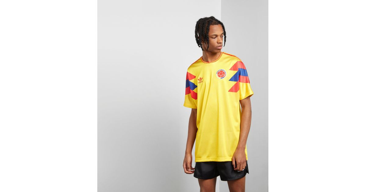 8ed3e5eb5 adidas Originals Colombia 1990 Football Jersey in Yellow for Men - Lyst