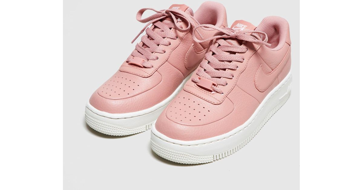 pink nike air force 1 upstep