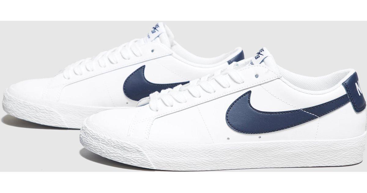 Nike White Blazer Low