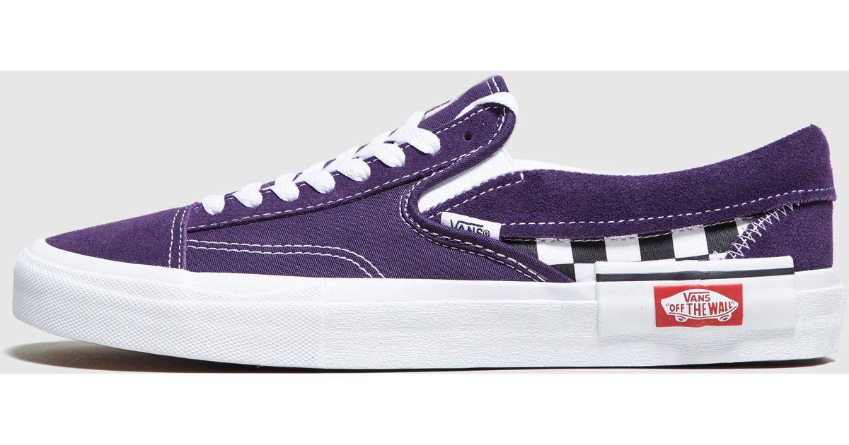 vans slip on purple
