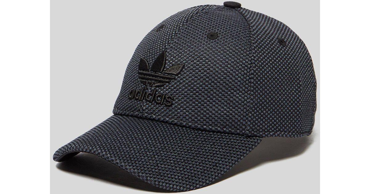 new style ac9fb 99e91 ... low price lyst adidas originals primeknit trefoil cap in black for men  41a49 f24df