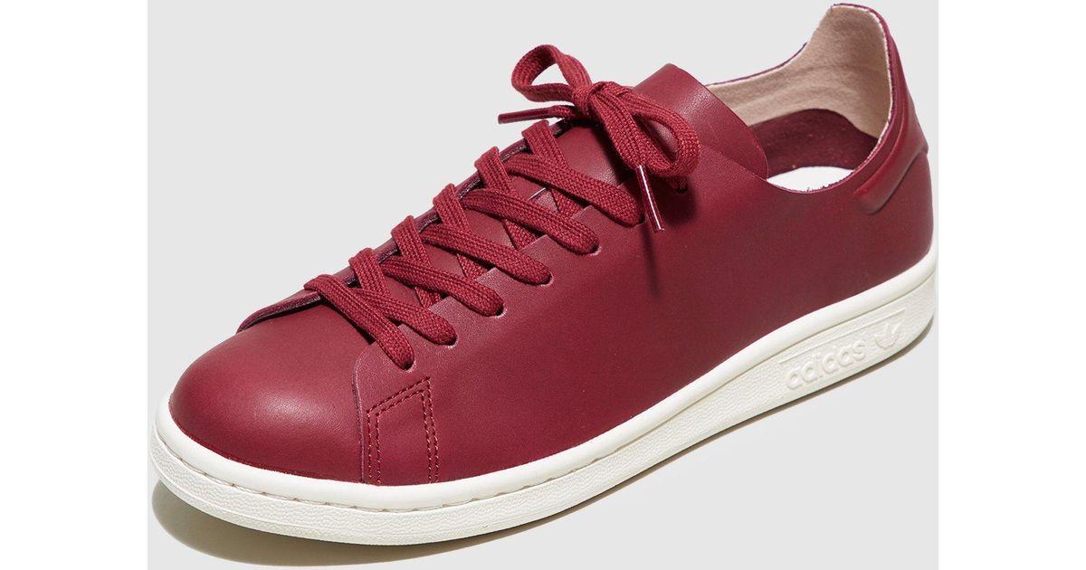 Lyst adidas Originals Stan Smith nuude mujeres en rojo