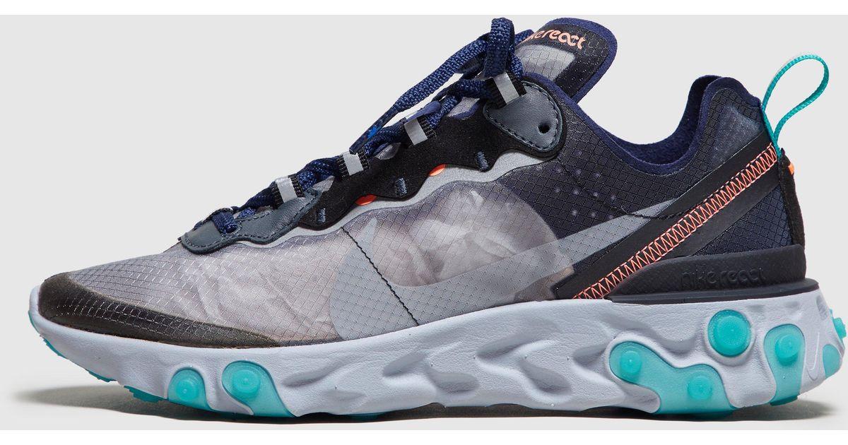 4d9f900be4b4 Lyst - Nike React Element 87 Women s in Blue