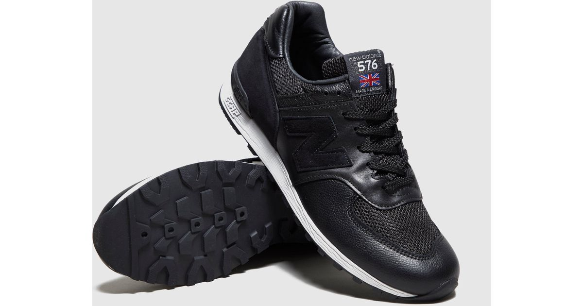 cheap for discount c7a65 91e27 New Balance Black 576 Premium Leather for men