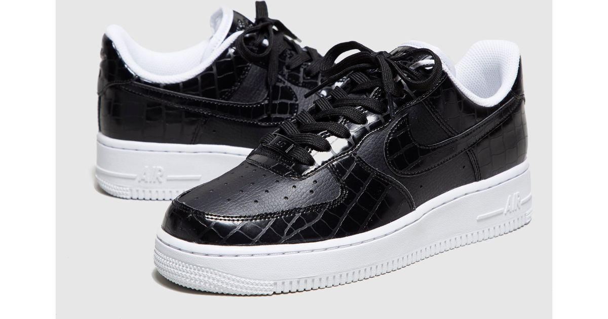 46976e993e9645 Lyst - Nike Air Force 1 Reptile Women s in Black