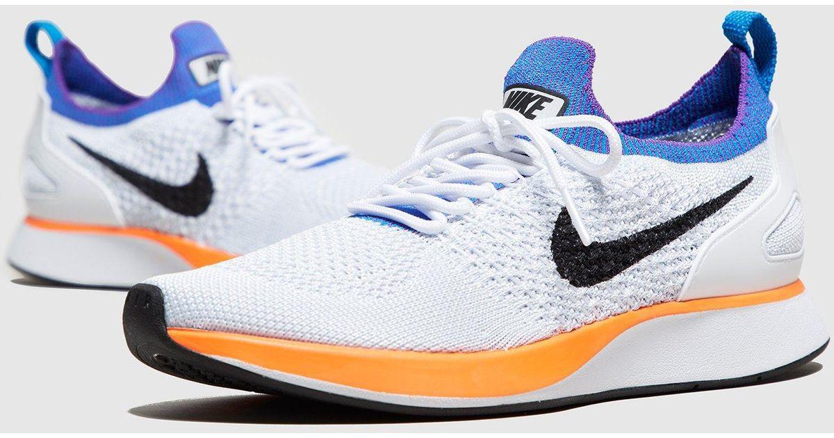 4b90e63bd1e21 Lyst - Nike Air Zoom Mariah Racer Flyknit Women s in White for Men
