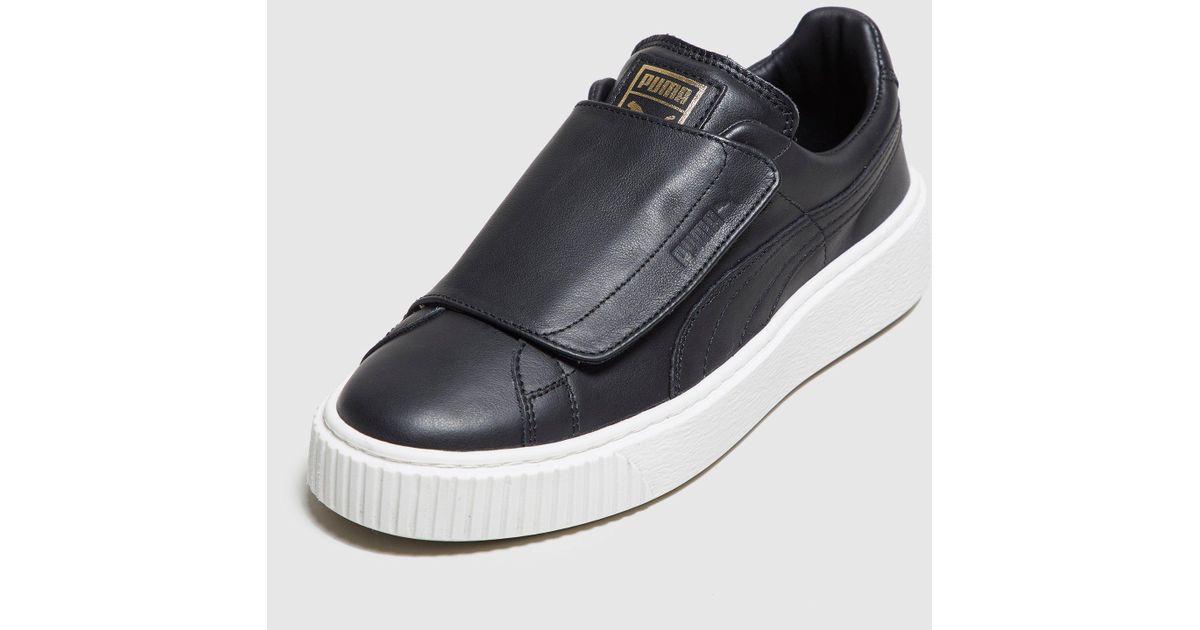 hot sale online 66884 3d5ca PUMA Black Basket Platform Velcro Women's