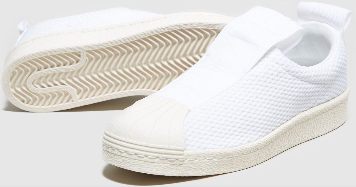 size 40 360cf cfb7a Adidas Originals White Superstar Bw35 Slip-on Women's