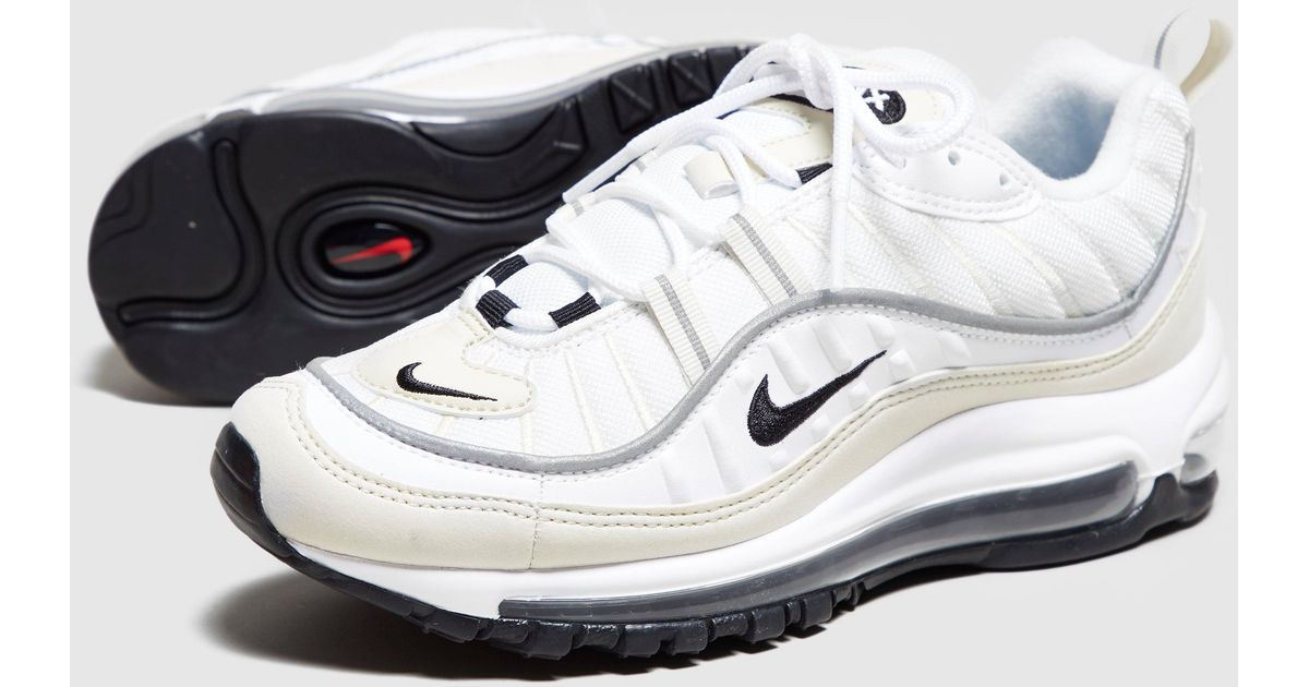 huge selection of 039db 469bb Nike White Air Max 98 'fossil' Women's