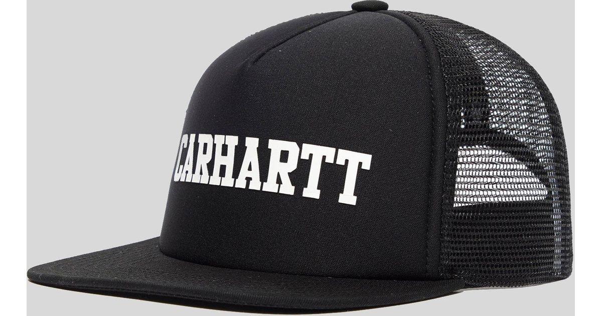e49eedc37a014 Carhartt WIP College Trucker Cap in Black for Men - Lyst