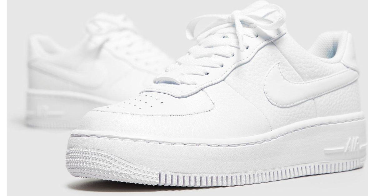 58574ecfbed Lyst - Nike Air Force 1 Upstep Women s in White