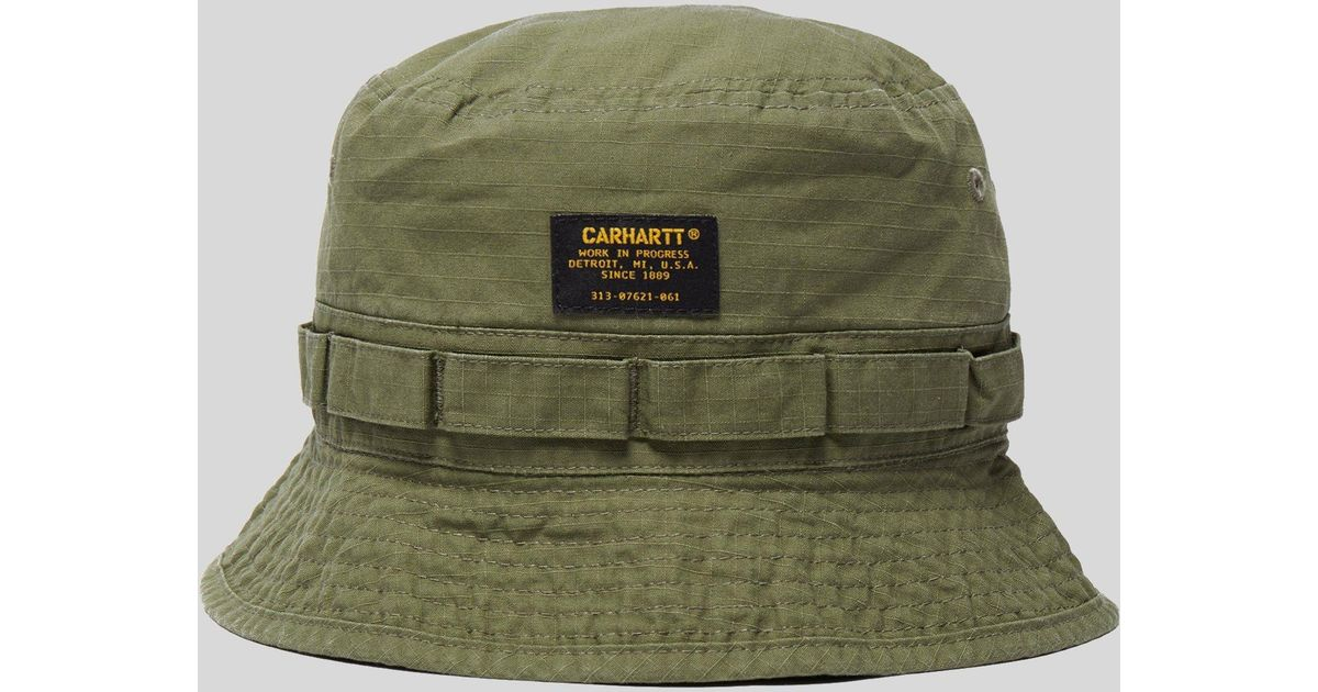 3e8f882cd Carhartt WIP Green Military Bucket Hat for men