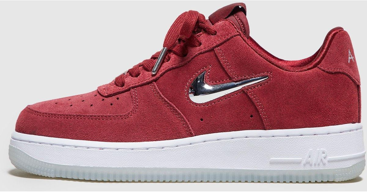 quality design 7a6c7 6d947 ... reduced lyst nike air force 1 jewel low womens in red 4e2c3 be354