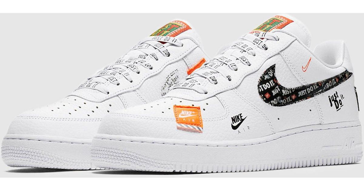 newest 8d38c 7a235 Lyst - Nike Air Force 1  07 Premium  just Do It  Women s in White