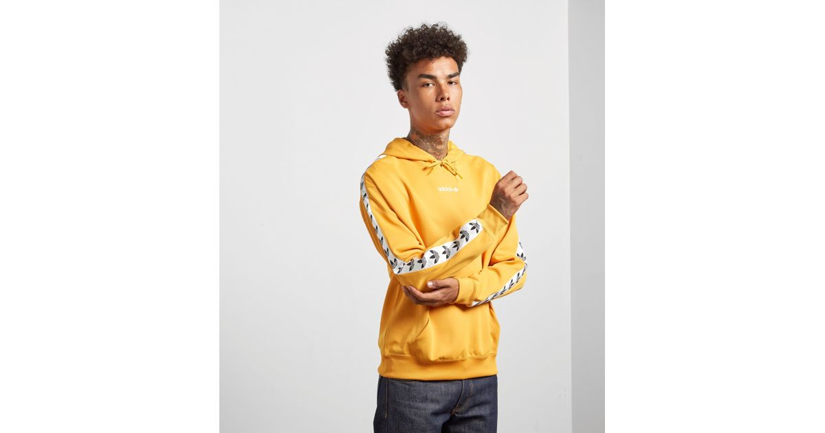 sale uk classic style best value Adidas Originals Yellow Overhead Tape Hoodie for men