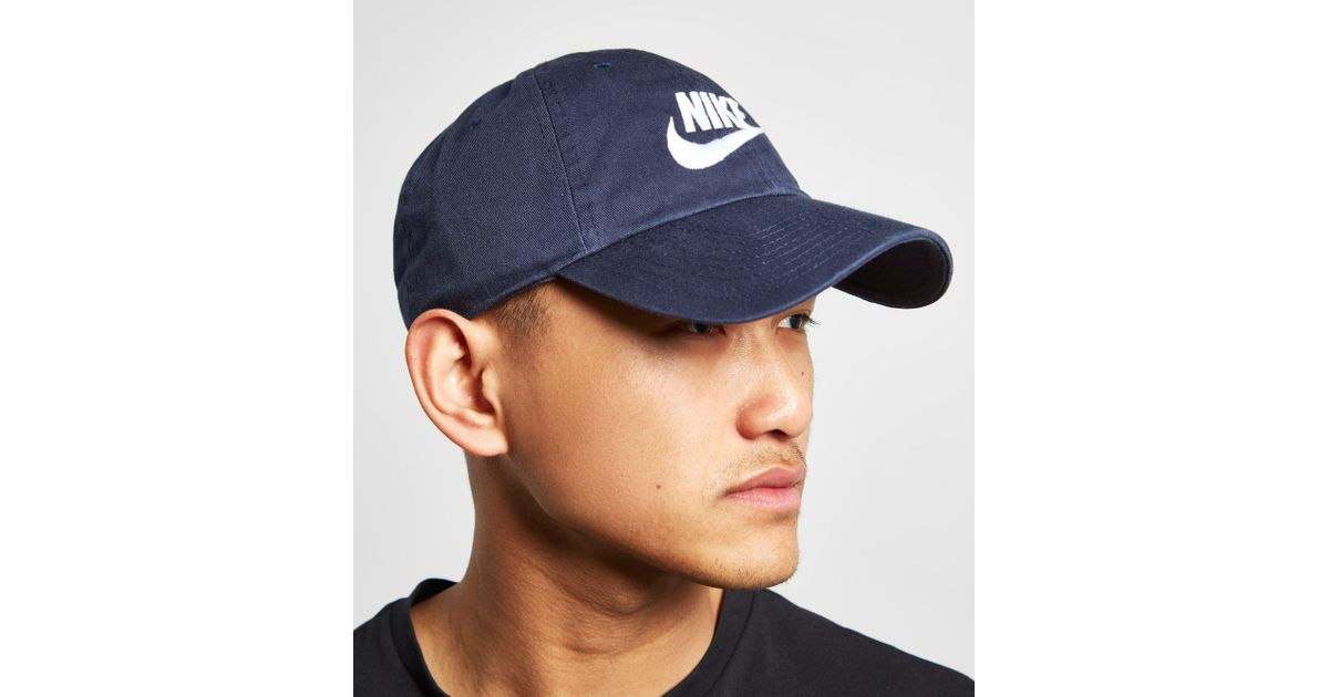 ... where to buy lyst nike futura washed cap in blue for men e128f b6b35 7e97c7881e2