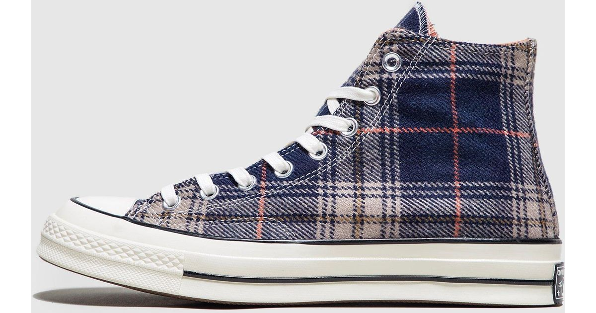 91637f69d8669f Lyst - Converse Chuck 70 Plaid in Blue for Men