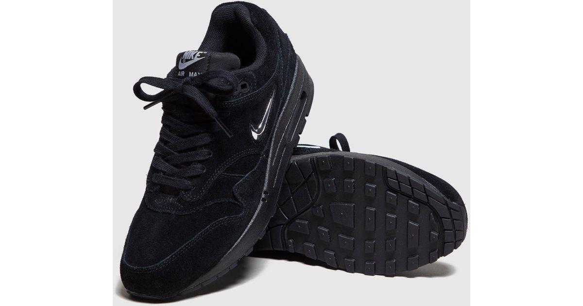 e6b1a2dd50 Nike Air Max 1 Jewel Women's in Black - Lyst