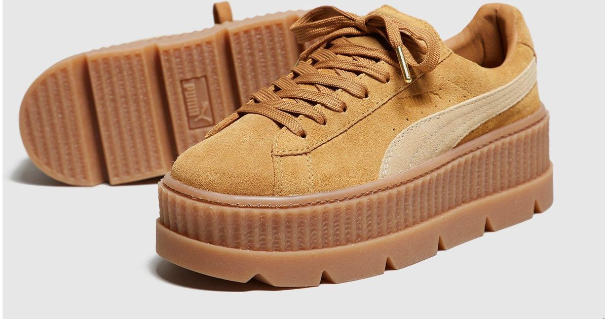 check out b1a22 4d955 PUMA Brown Fenty Cleated Creepers Women's
