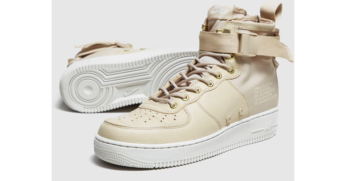 lyst nike air force 1 metà naturale sf