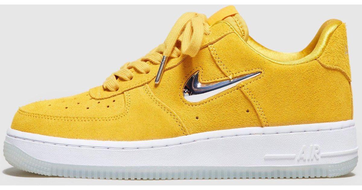 best service 71116 0627d Nike Yellow Air Force 1 Jewel Low Women's