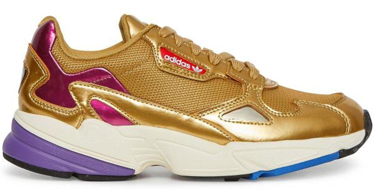 Lyst - adidas Originals Wmns Falcon Sneakers Gold gold e71c8601f