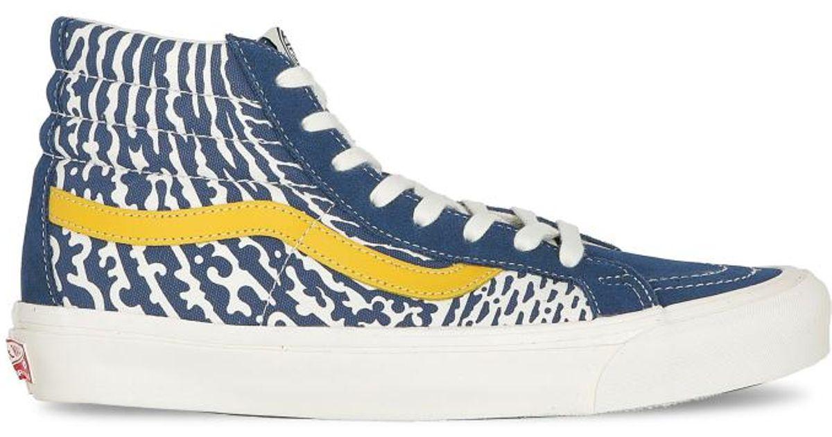 5cba494a58e0b1 Lyst - Vans John Van Hamersveld Sk8-hi Lx Sneakers in Blue for Men