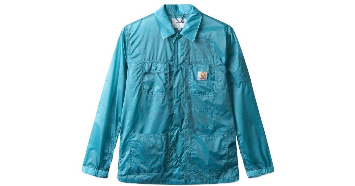 Carhartt WIP Blue Brain Dead Chore Coat