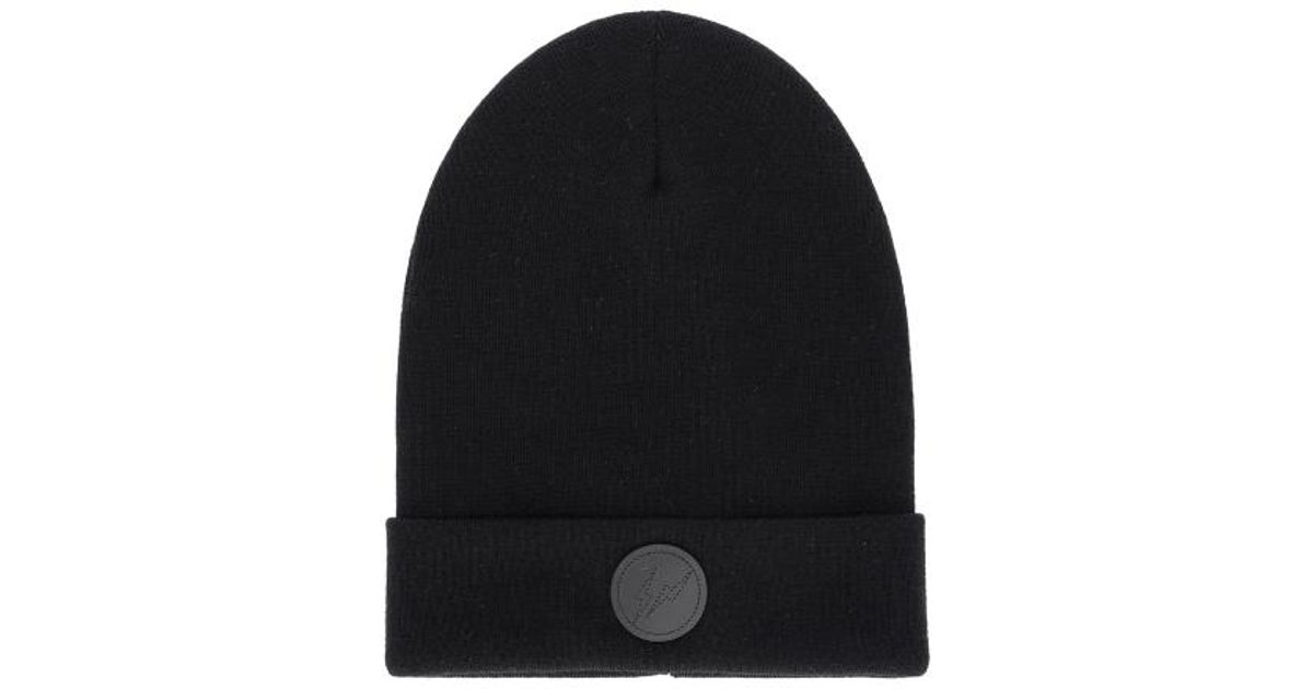 9631fbebbaa4a Lyst - Moncler Genius Fragment Design Tricot Beanie in Black for Men - Save  25%