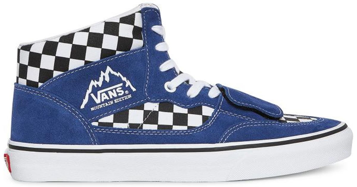 d19e777e1c Lyst - Vans Checkerboard Mountain Edition Sneakers in Blue for Men - Save 5%