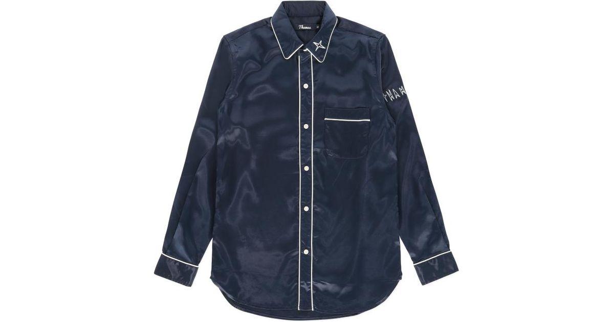 Lyst - Thames London Espy Pyjama Top in Blue for Men d78204dd9