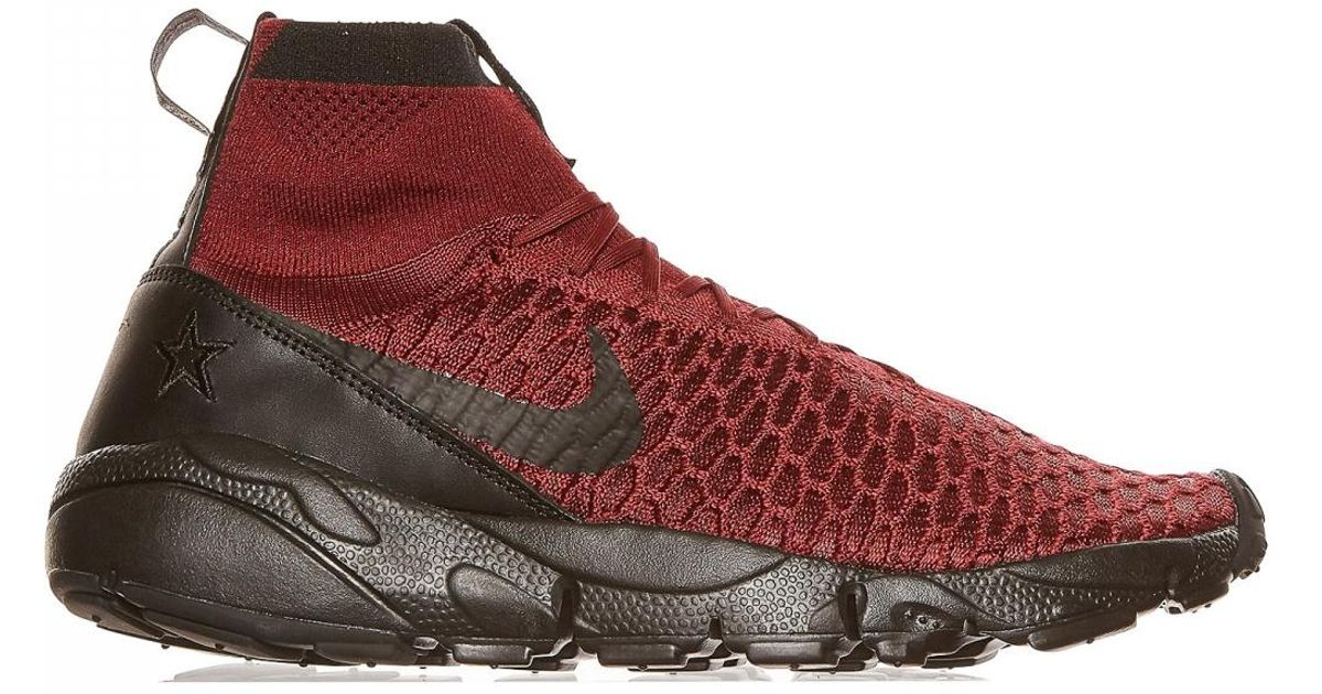 Lyst - Nike Air Footscape Magista Flyknit Fc Sneakers in Red for Men ee56732e8