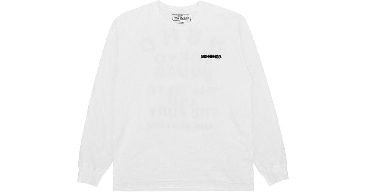 15fe59f2 Lyst - Neighborhood Squad Long Sleeves T-shirt in White for Men