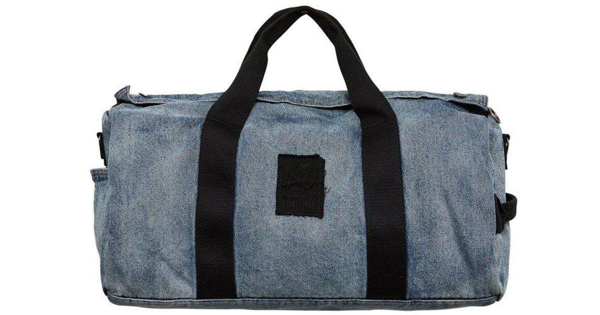 516a3a660c Lyst - PUMA The Weeknd Xo Denim Duffle Bag in Blue for Men