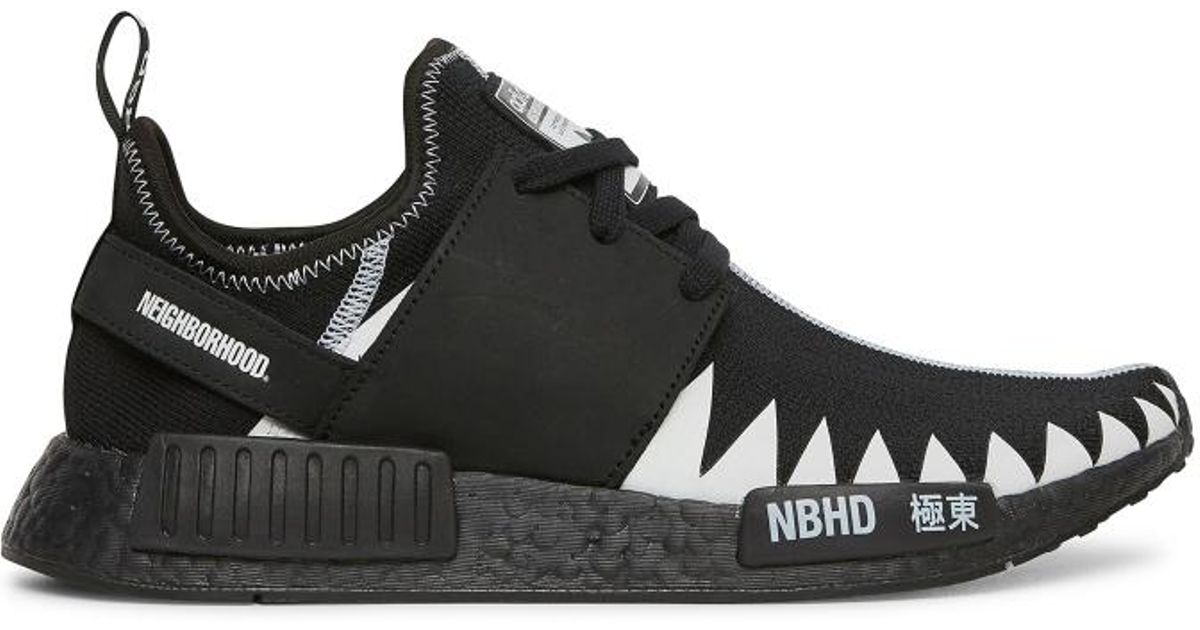 newest ded59 31066 Adidas Originals Black Neighborhood Nmd R1 Pk Sneakers for men