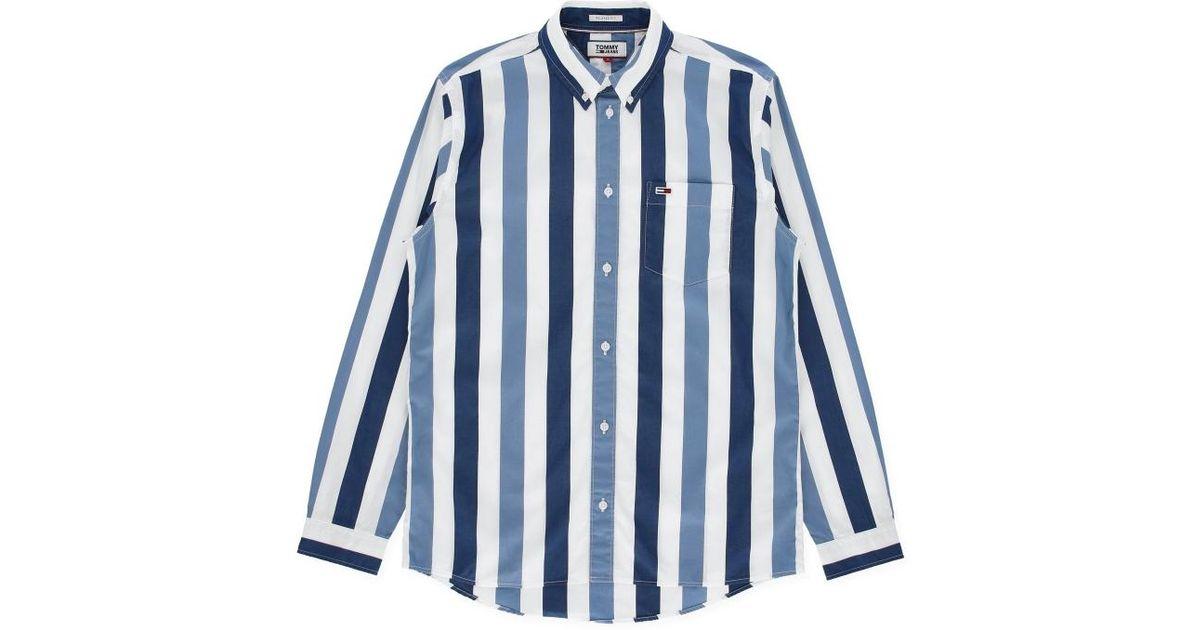 078b7baef0 Tommy Hilfiger Classic Stripe Shirt in Blue for Men - Lyst