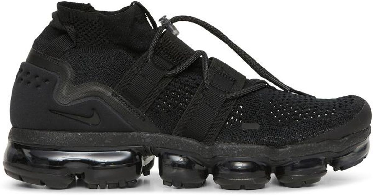 hot sales 7f054 267d3 Nike Nikelab Air Vapormax Flyknit Utility Sneakers Black for men
