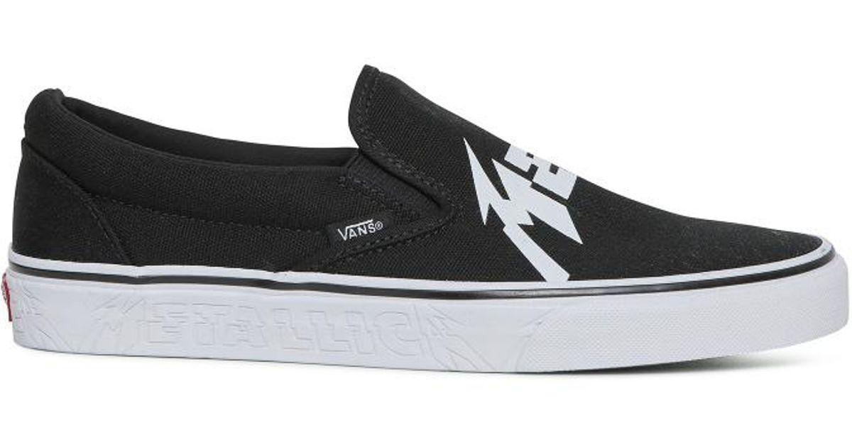 e3e77c49f2 Lyst - Vans Metallica Classic Slip On Sneakers in Black for Men