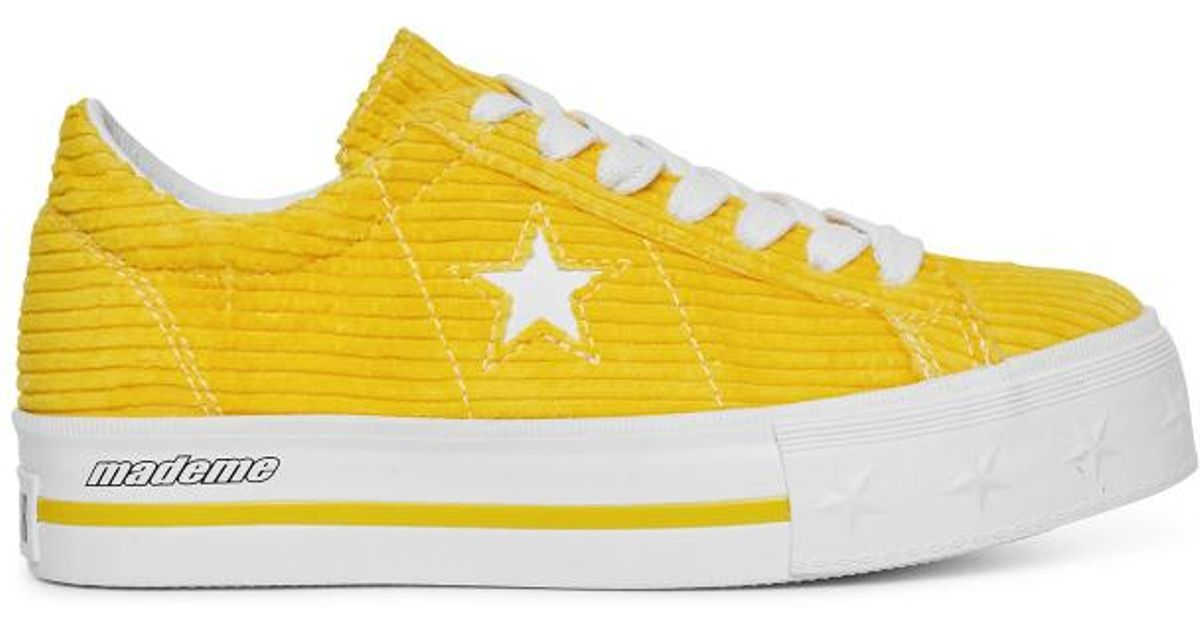 0d95866d6e45f9 Converse X Mademe One Star Platform Sneakers Vibrant Yellow in Yellow - Lyst