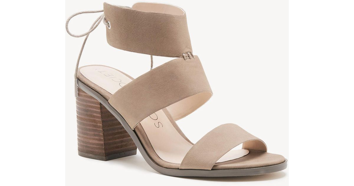 fa863718451 Lyst - Sole Society Hayden Backless Heeled Sandal