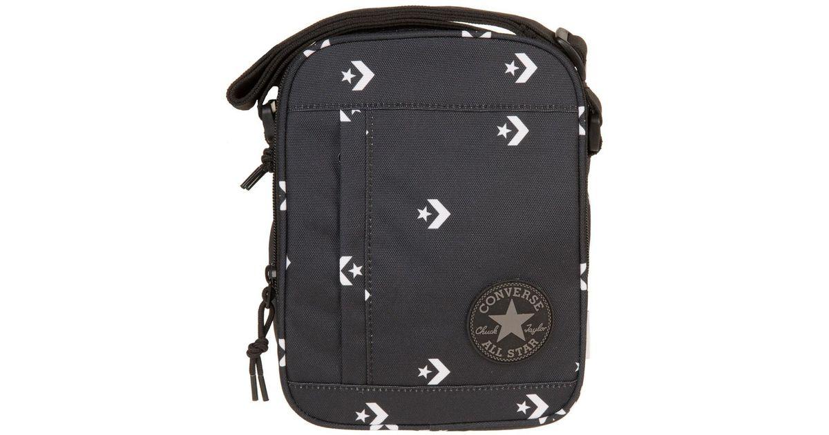 58992d60edc3 Converse Chevron Cross Body Bag in Black for Men - Lyst