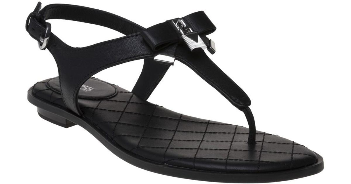 f5559caf8 MICHAEL Michael Kors Alice Black Thong Sandal in Black - Save 6% - Lyst