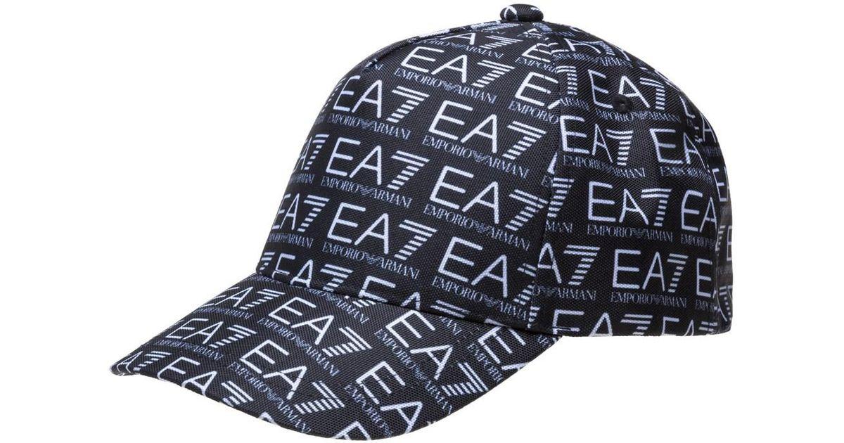 EA7 Train Monogram Cap in Black for Men - Lyst d25d001afeed