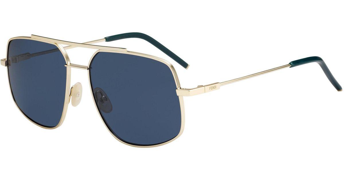 6ec60123522 Lyst - Fendi Men 0007 s Navigator Sunglasses in Blue for Men