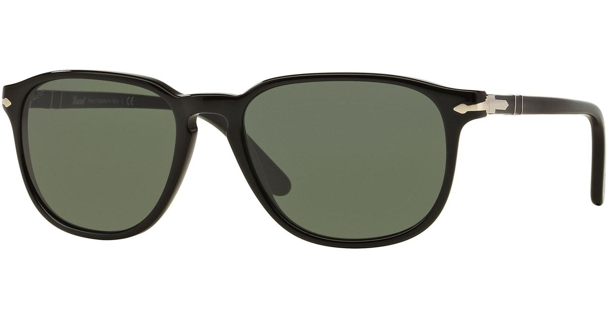 2ad70c0724 Persol - Green 3019 Size 52 Sol Rectangle Sunglasses for Men - Lyst