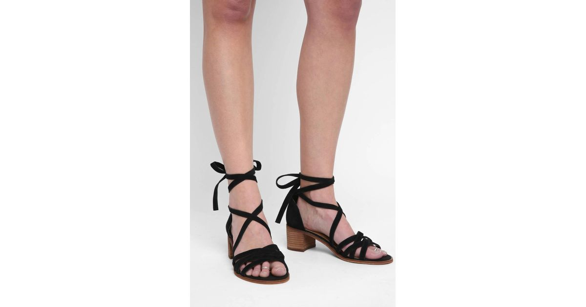 d82475f7899 Lyst - Steve Madden Revere Lace Up Heels in Black