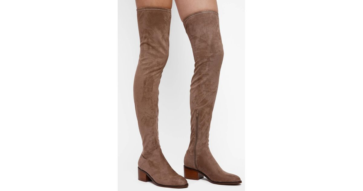 a3dc9f33ad5 Lyst - Steve Madden Gabbie Over The Knee Boot With Stacked Heel in Brown