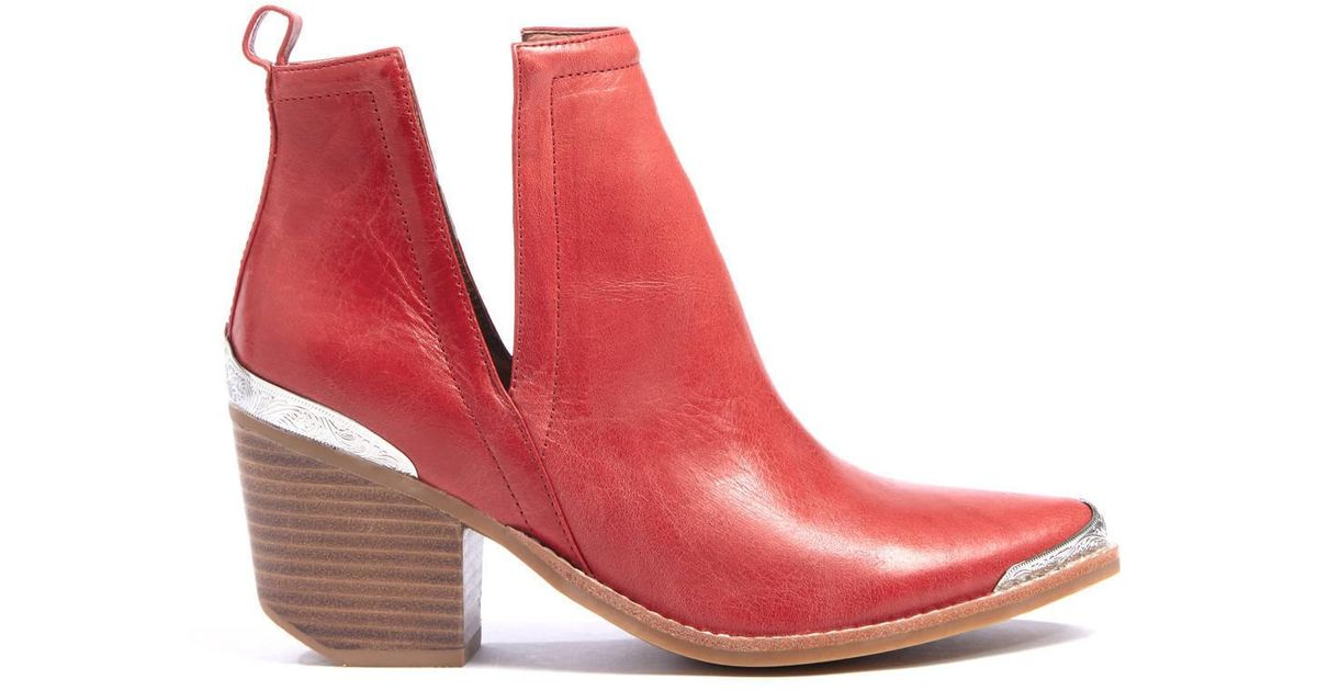 cca7eef19e1 South Moon Under Red Cromwell Western Cut Out Bootie